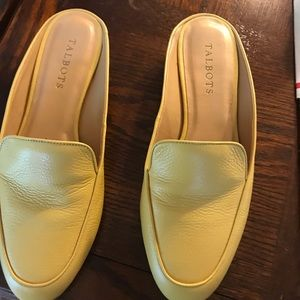 Talbots mules. Yellow leather size 8. Worn 3 times